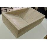 cuba esculpida de granito para bancada Vila Prudente