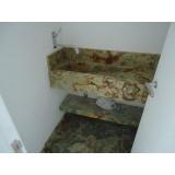 cuba esculpida de mármore para banheiro Campo Belo