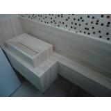 cuba esculpida de mármore para banheiro