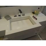 empresa de cuba esculpida em silestone branco Barra Funda